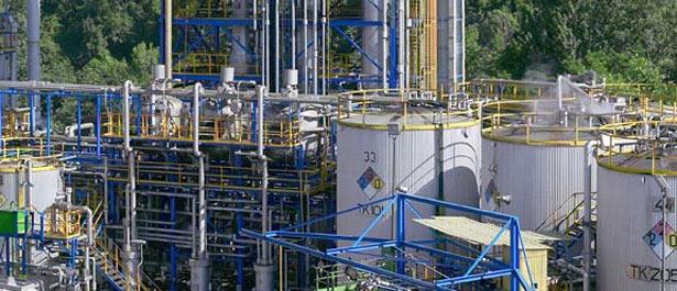 Planta de destilación de naftalina